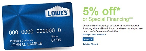 My Lowes Card >> Apply Manage Lowe S Consumer Credit Card For Easy Shopping Bill